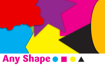 any shape stickers
